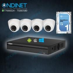 Kit de 4 cámaras HDCVI 1MP