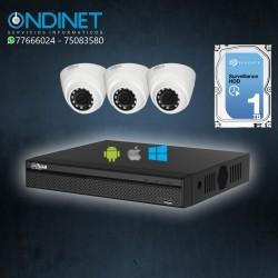 Kit de 3 cámaras HDCVI 1MP