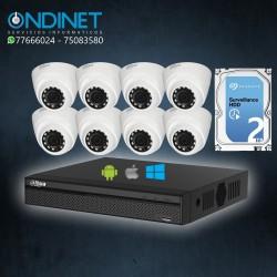 Kit de 8 cámaras HDCVI 1MP