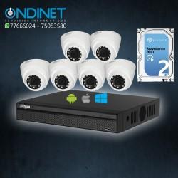 Kit de 6 cámaras HDCVI 1MP