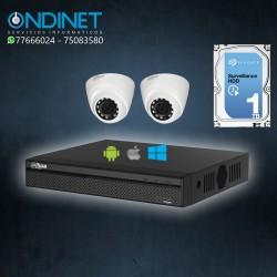 Kit de 2 cámaras HDCVI 1MP